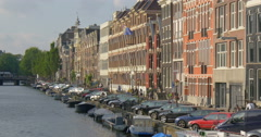 Amsterdam is the capital of the Kingdom of the Netherlands Stock Footage