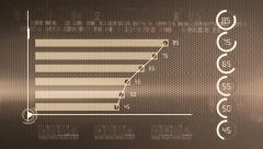 Business chart marketing report SEPIA Stock Footage