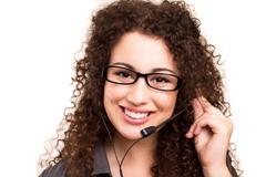 Telephone operator Stock Photos