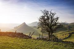 Stock Photo of Stunning landscape of Chrome Hill and Parkhouse Hill in Peak District in UK