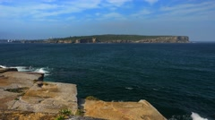 View of North Head from South Head, Sydney in 4k Stock Footage