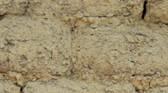 Old adobe wall closeup - stock footage