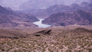 Stock Video Footage of 4K UHD colorado river long shot high angle epic landscape