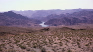 Stock Video Footage of 4K UHD colorado river long shot high angle extreme wide epic landscape