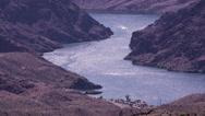 Stock Video Footage of 4K UHD colorado river long shot high angle tight