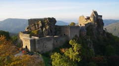 The Aggstein castle in Austria Stock Footage