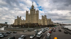 Skyscraper on Kotelnicheskaya, Timelapse - stock footage