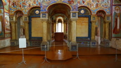 Interior of the temple in Rostov Veliky - Russia Stock Footage