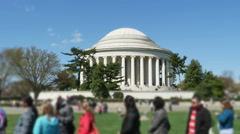 3352 Thomas Jefferson Memorial with People Outside in Washington DC, 4K - stock footage
