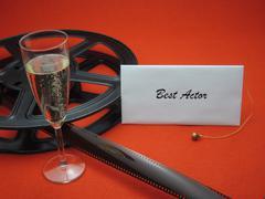 Movie awards - best actor - stock photo