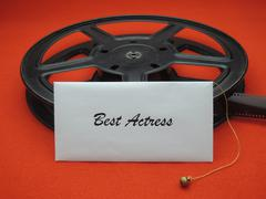 Movie awards - best actress - stock photo
