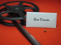 Movie awards - best director Stock Photos