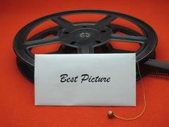 Movie awards - best picture - stock photo