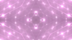 Abstract pink background with animated circles and stars. - stock footage