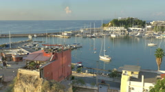 Sailboats Piraeus (Athena), Greece Marina in the morning light - 4K - stock footage