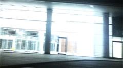 Night. Light building. - stock footage