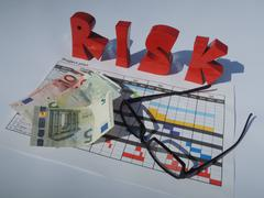 Financial risk concering the project plan - stock photo