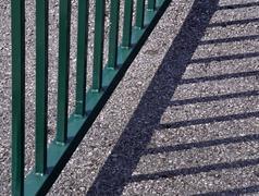 shadow railing - stock photo