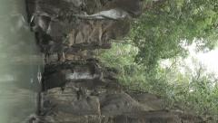 River Gorge. Guanacaste, Costa Rica. Vertical Display. Stock Footage