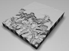 3d model of Grand Canyon Arizona Low Poly 3D Model