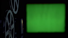 Movie Projector, Green Screen, Cinema Screen, Picture Theater Stock Footage