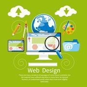 Web design. Program for design and architecture. Stock Illustration