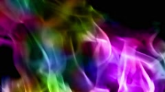 Colorful Fire Flames Stock Footage