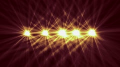 Spot Lights with Light Rays Stock Footage