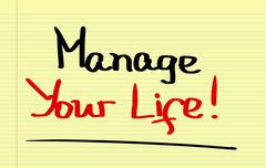 Manage Your Life Concept - stock illustration