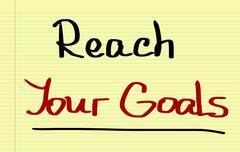 Reach Your Goals Concept Stock Illustration