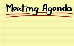 Meeting Agenda Concept - stock illustration