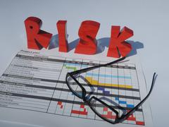 Risk concering the project plan - stock photo