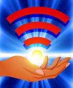 Wifi, technology, social, network Stock Illustration