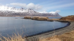 Fjords at East Iceland Stock Footage