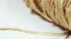 Flax hemp rope Stock Footage