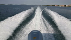 Powerboat with outboard engine  planing Stock Footage