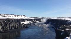 Selfoss Hafragilsfoss in Iceland Stock Footage