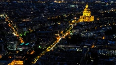 Paris Basilica Sacre Coeur Montmartre Timelapse Stock Footage