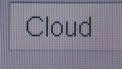 Macro Close Up Typing Search Query: CLOUD Stock Footage