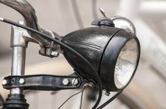 Stock Photo of Retro bicycle headlight