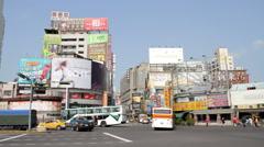 Taichung Street Scene. HD Stock Footage
