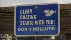 Don't Pollute Sign Rack Focus Stock Footage