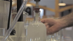 Gin Bottling at Small Distillery Stock Footage
