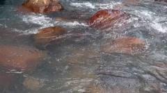 Rio Celeste river in Costa Rica Stock Footage
