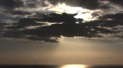 Timelapse just before the sunset with dramatic clouds Stock Footage