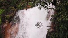 Rio celeste waterfall Stock Footage