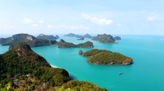 Beautiful Angthong park islands Thailand Stock Footage