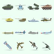 Army Icons Set - stock illustration