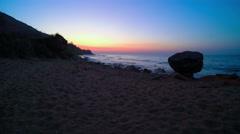 Sunrise on the Wild Coast. 4K Timelapse Stock Footage