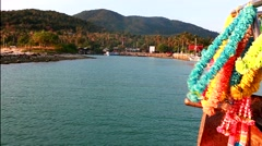 Ship arrival Phangan island Stock Footage